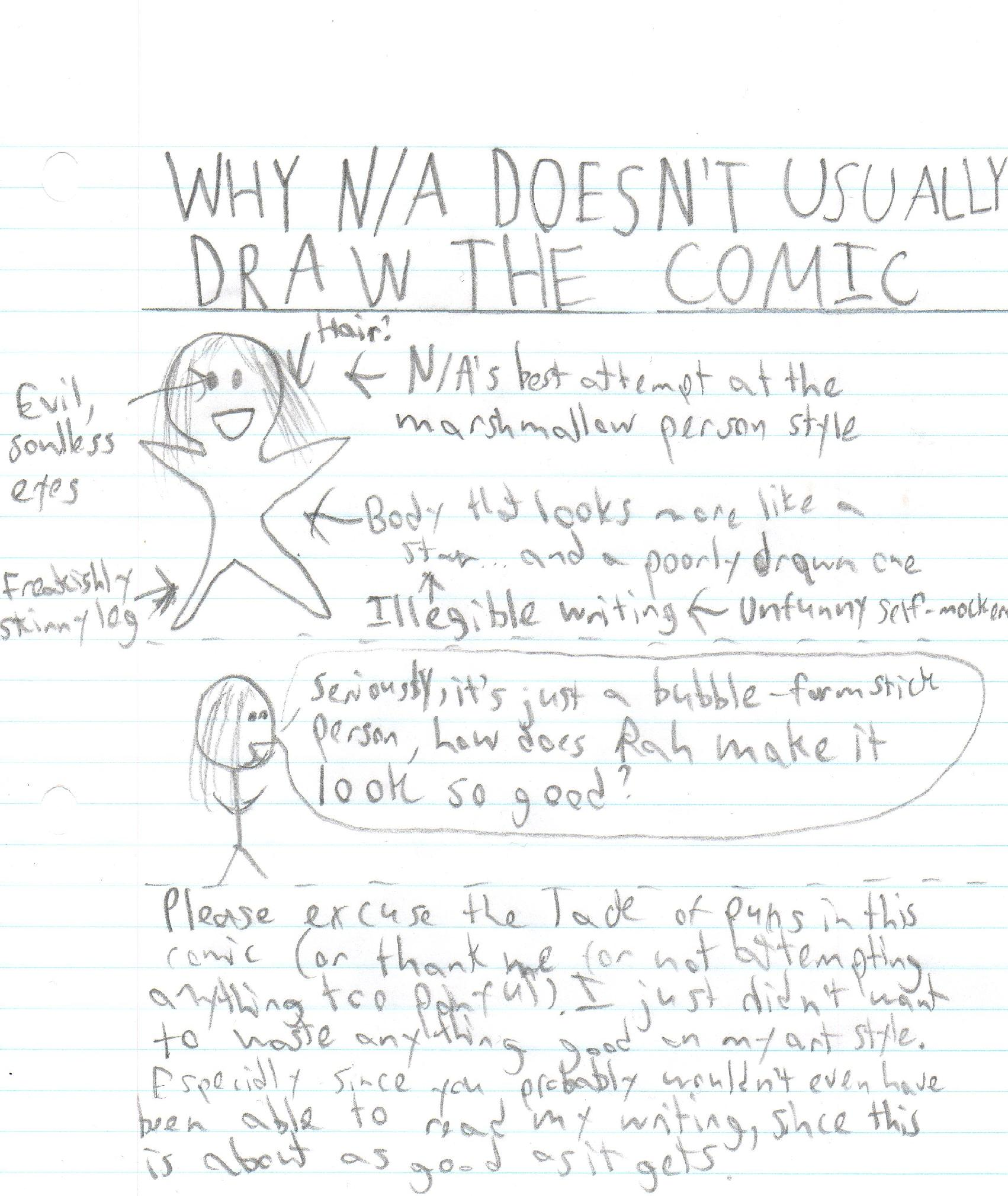 Why N/A Doesn't Usually Draw The Comic
